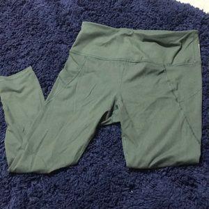 RBX olive green leggings size L